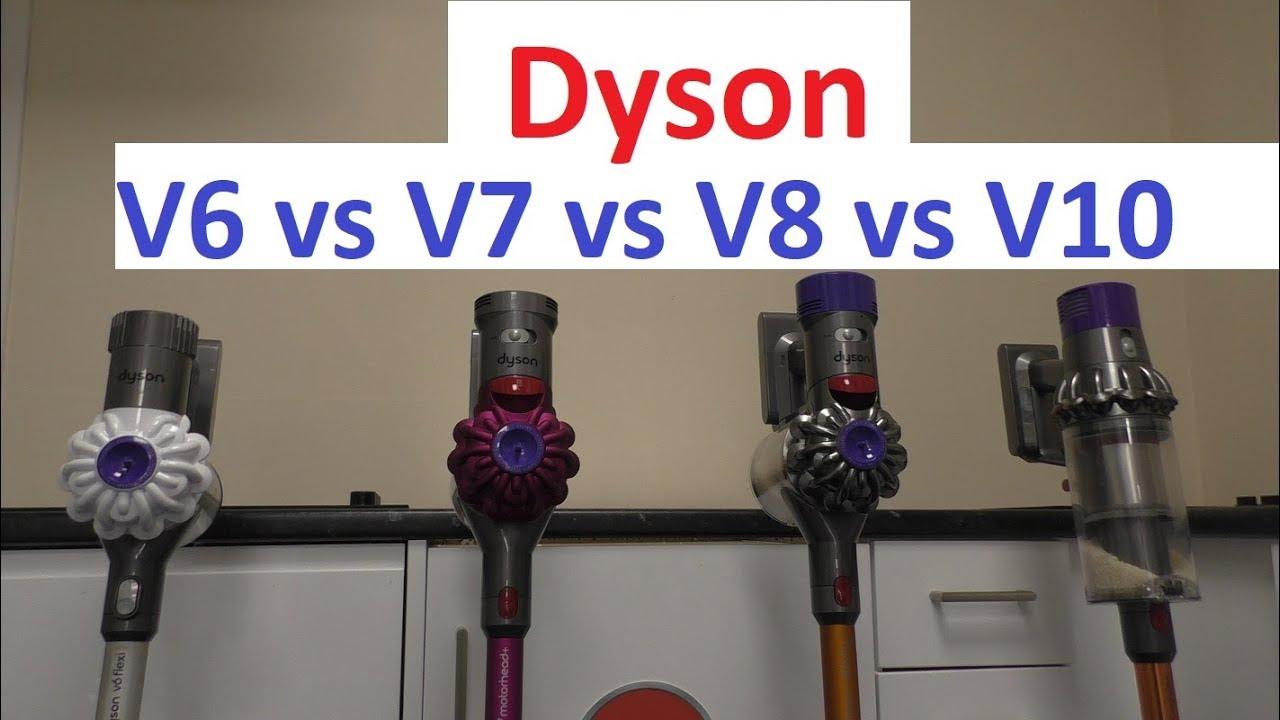 dyson comparison v6 vs v7 vs v8 vs v10 youtube. Black Bedroom Furniture Sets. Home Design Ideas