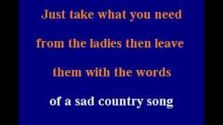Willie Nelson - My Heros Will Always Be Cowboys - Karaoke