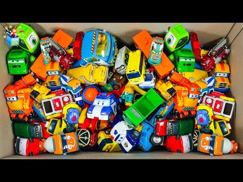 Learning Color full box of toys street Vehicle and Disney Cars Lightning McQueen play video for kids