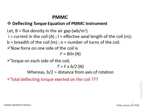 PMMC(Permanent Magnet Moving Coil)