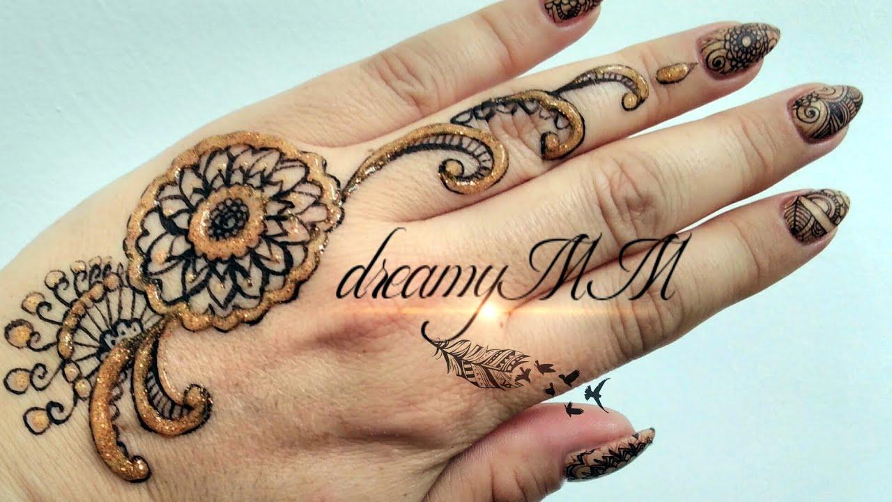 Diy Temporary Tattoo Using Eye Liner Inspired By Mehndi Henna