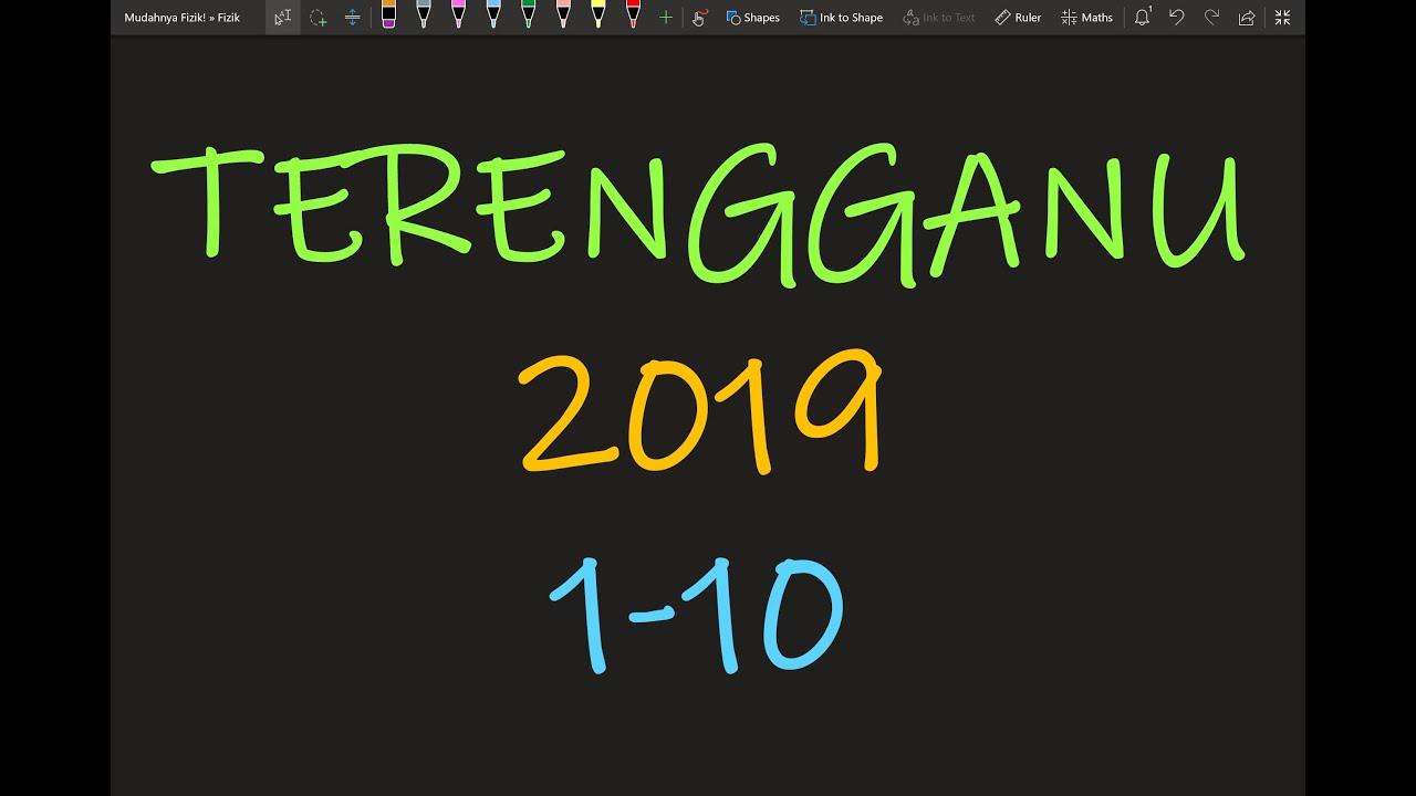 Percubaan SPM Fizik: Terengganu 2019 Kertas 1 Soalan 1-10 ...