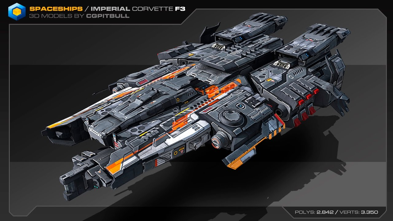 spaceships imperial corvette f3 youtube