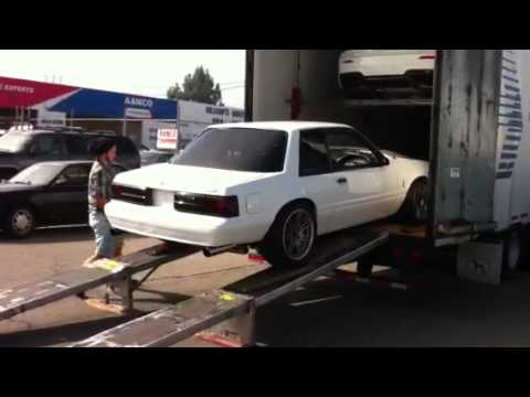 1987 ford mustang notchback with terminator swap - YouTube