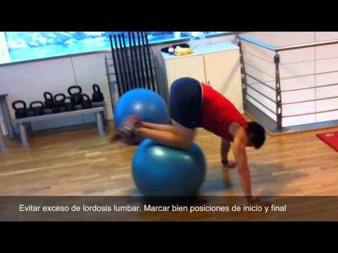 Rutina fitball para nadadores y triatletas