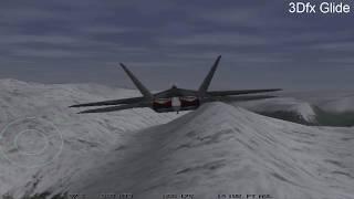 Старые компьютерные игры MS-DOS для 3dfx Voodoo: Jetfighter 3 - 1997 год.