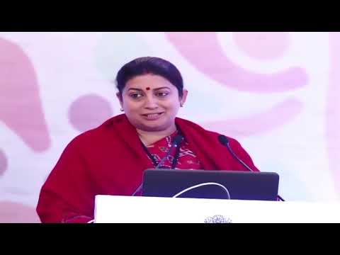 Union minister Smriti Irani speaks at National Conclave of Textiles Sector