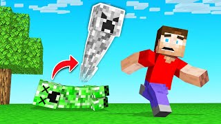 Minecraft BUT The MOBS Turn Into GHOSTS!
