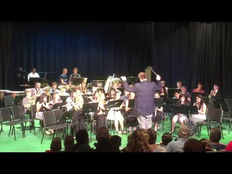 Zillah Middle School Band concert. February 24, 2015