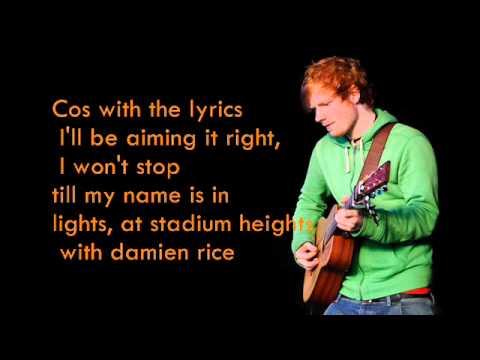 Ed sheeran you need me I dont need you lyrics