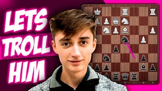 Dubov Plays Against Strong Russian Grandmaster and Sacrifices Knight to Troll Him