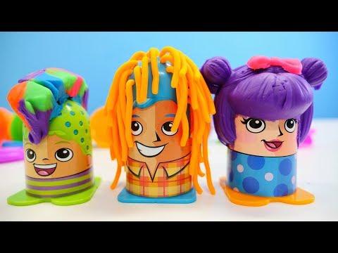 Nicoles Grüne Box - Play Doh Friseur - Spielzeugvideo für Kinder