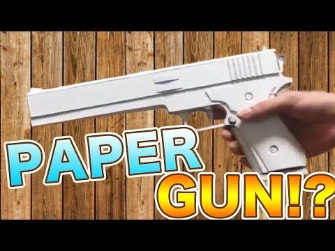 Amazing!! Japanese paper gun shoots paper bullets!