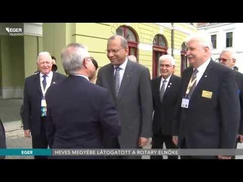 Heves Megyébe Látogatott A Rotary Elnöke - 2016.06.12.