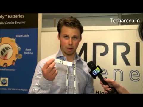 Imprint Energy High Capacity flexible Zinc Poly Batteries - CES 2014