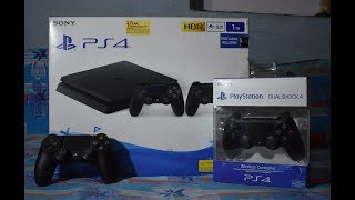 PS4 SLIM 1 TB UNBOXING IN 2018 WITH EXTRA CONTROLLER