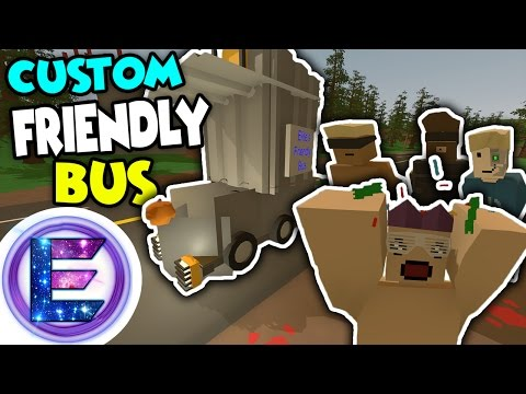 CUSTOM FRIENDLY BUS! - Having fun with FANS - Building a custom bus - Unturned RP ( Funny Moments )