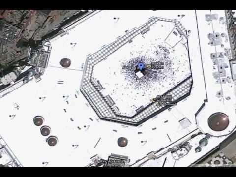 Satellite View Of Kaaba Youtube