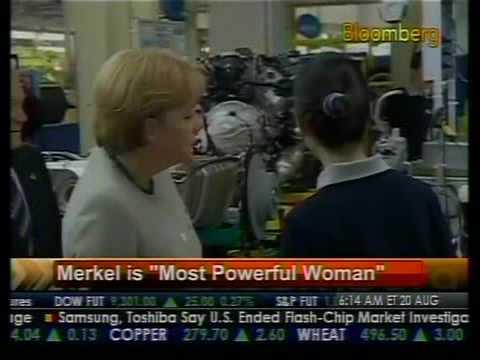 """Merkel is """"Most Powerful Woman"""" - Bloomberg"""