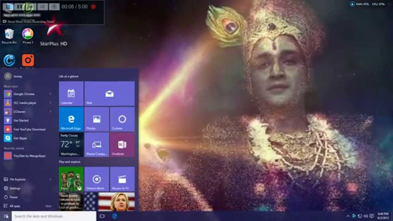 Krishna Live Wallpaper For Desktop Win 10 Youtube