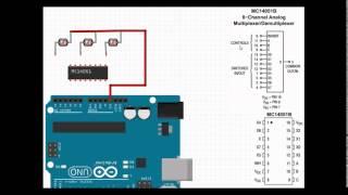 Analog Multiplexer Demultiplexer MC14051B Basic introduction.