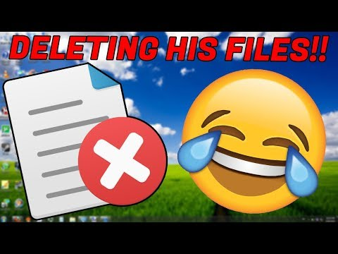 SCAMMER TRIES TO DESTROY MY PC! DELETING HIS FILES!