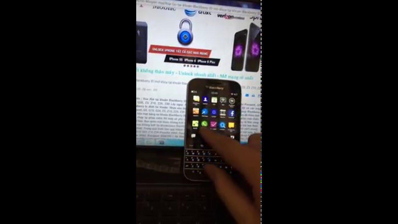 blackberry quên tài khoan id; xóa tài khoản Blackberry ID Q10 Q20 Z10 Q5 Z20 Z30 Passport Classic