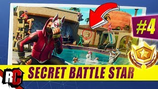 Secret Battle Star Emplacement WEEK 4 SEASON 5 ( Fortnite (Road Trip Challenge / Écran de chargement SEMAINE 4)