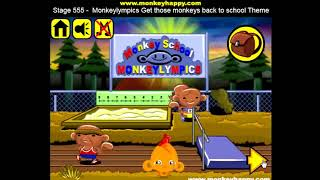 Прохождение Игры. Обезьянки. Этап 555. Обезьянолимпийские Игры Вернут Обезьян В Школу. Онлайн Игры.
