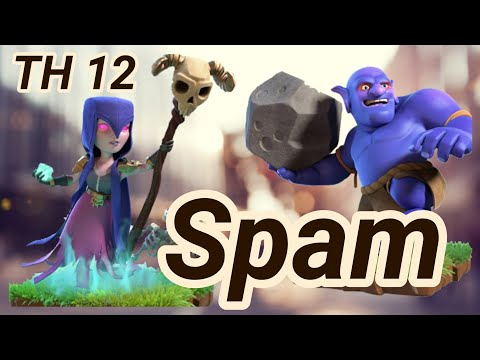 mass bowler witch giant spam | Bowitch | 3 Star War Attack | Spam | TH 12 | COC Clash of Clans 02/19