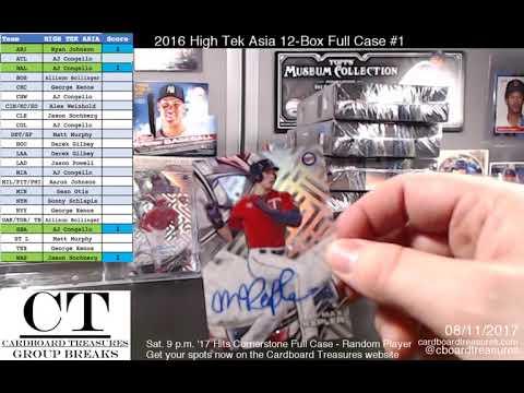 2016 High Tek Asia Edition Baseball 12-Box Full Case Break #1