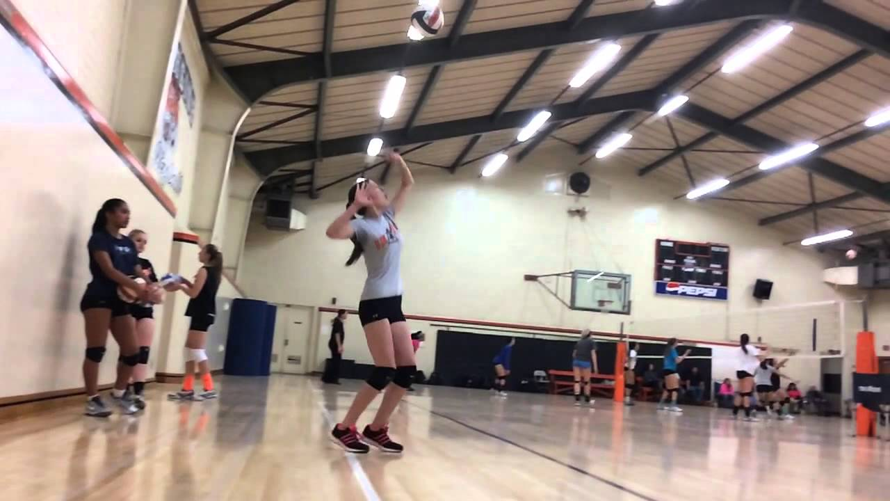 Eliza Slow Motion Volleyball Jump Serve Youtube