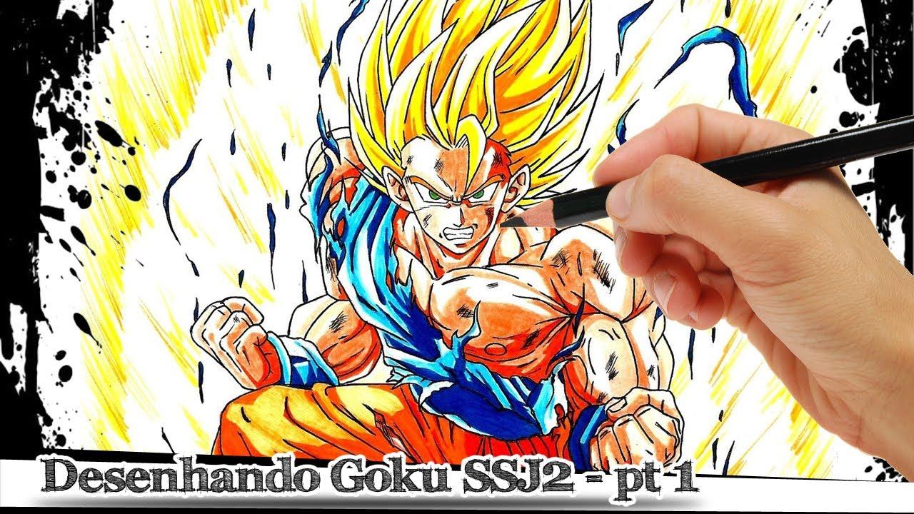 Dragon Ball Z Para Colorir Gohan Super Ssj 2: Desenhando Goku Super Sayajin 2