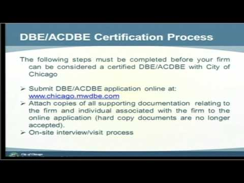 The ABC\'s of DBE and ACDBE Certification - YouTube