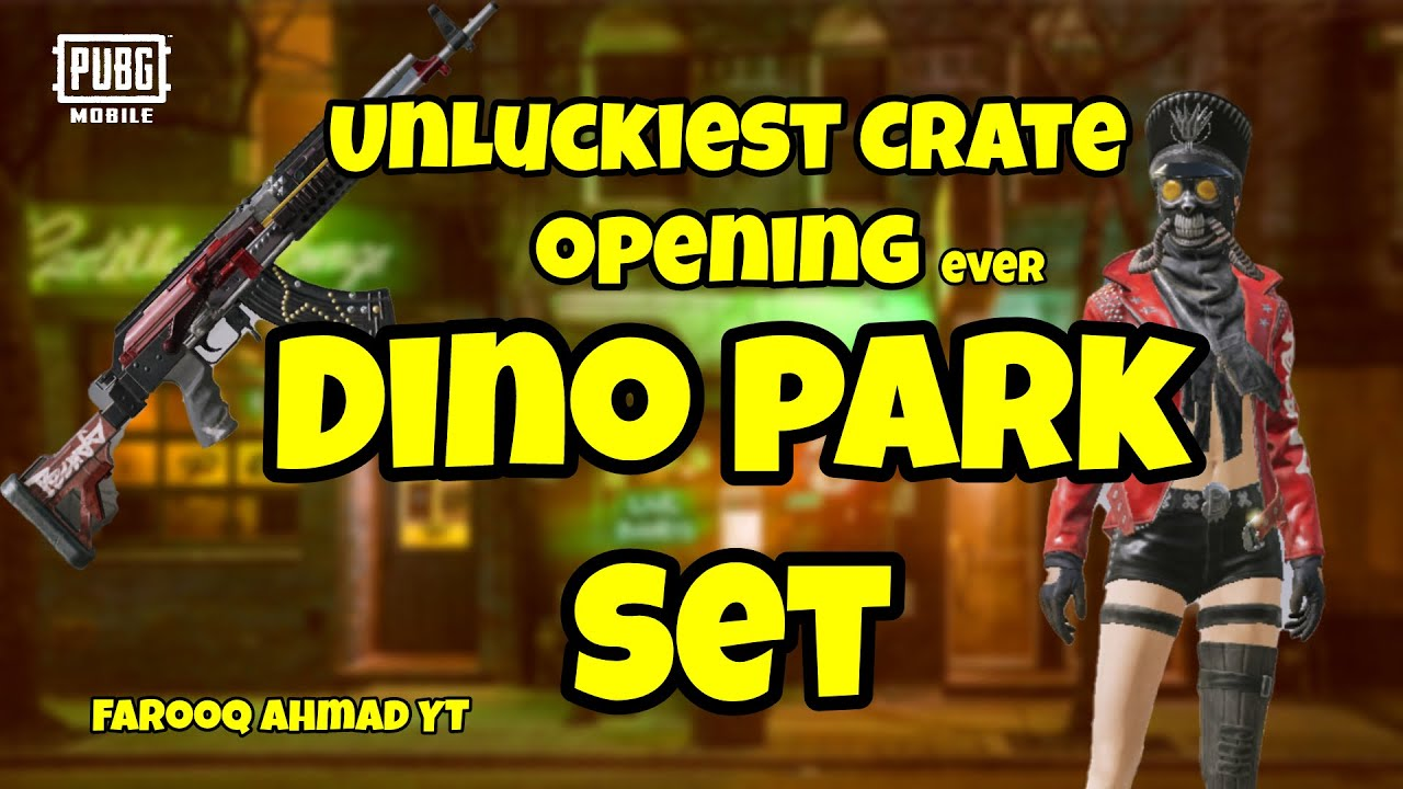 UnLuckiest Premium Crate Opening Ever.! Dino Park Set  | 🔥 PUBG Mobile 🔥