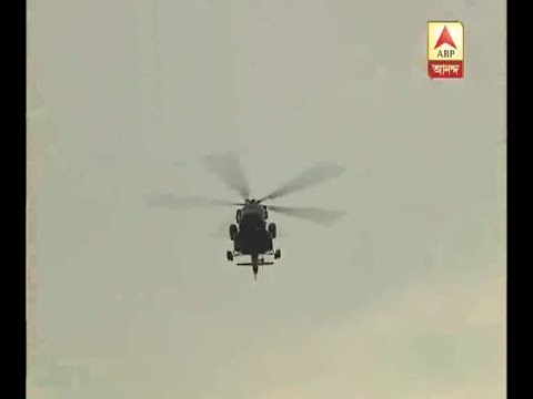 Copter of Army in rescue operation at flooded area of Ghatal: Watch