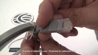 Cable UTP categoría 5e plano gris distribuido por CABLEMATIC ®