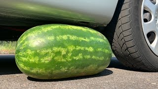 Crushing Crunchy & Soft Things by Car! - EXPERIMENT: BIG WATERMELON VS CAR