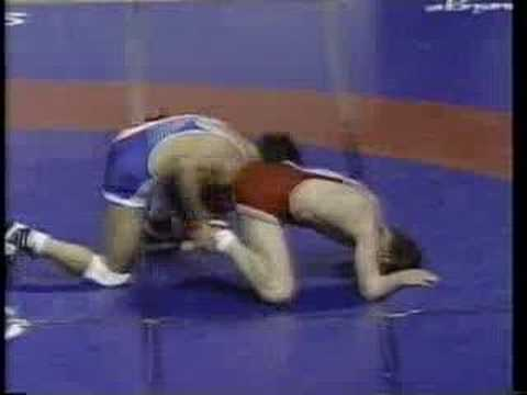 John Smith vs. Miazbek Antuev at the 1990 World Cup