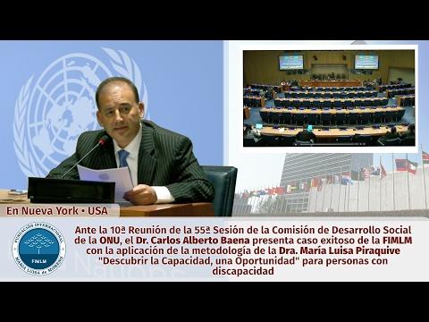 Método de la Dra. María Luisa Piraquive presentado en la ONU