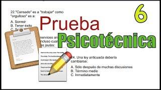 PRUEBA PSICOTÉCNICA - Ejemplo 06 - personalidad, razonamiento