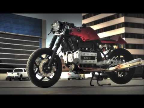 bmw k100rs cafe racer red - youtube