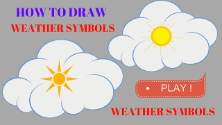 How To Draw Weather Symbols| How To Draw Weather Symbols For Kids Only Step By Step