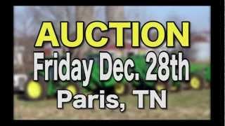 Farm Machinery Auction Commercial - James R. Cash  Auction Style!