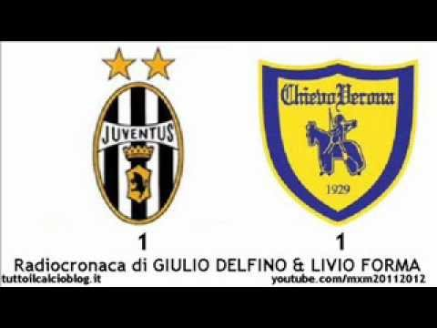 JUVENTUS-CHIEVO 1-1 – Radiocronaca di Giulio Delfino & Livio Forma (3/3/2012) da Radiouno RAI