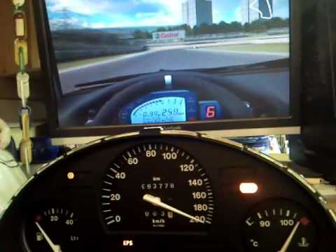 Full working Opel Corsa cluster with LFS - YouTube