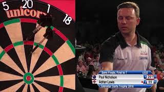 2018 Gibraltar Darts Trophy - Semi-Final - Paul Nicholson v Adrian Lewis