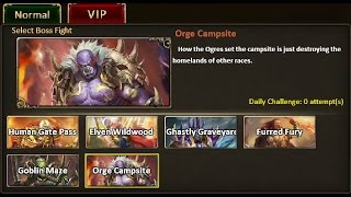 Rise of Mythos - How to Beat Ogre Campsite VIP Boss (Non-VIP Guide)
