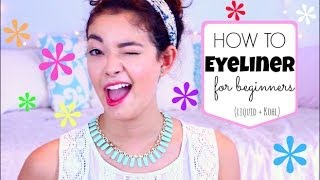 How to EYELINER for beginners! ♡ Liquid and Kohl ♡50 VoSummer Thumbnail