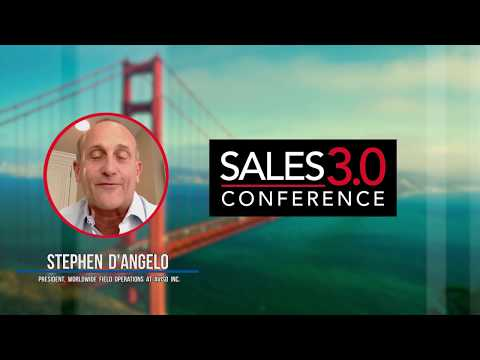 Stephen D'Angelo's keynote on AI at Sales 3.0 in San Francisco